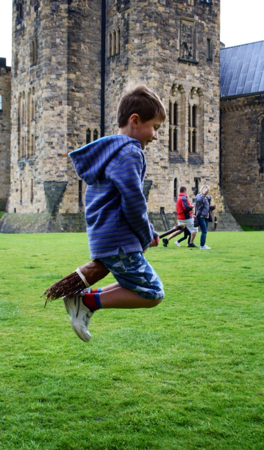 Postcard from our broomstick training at Hogwarts/ Alnwick!